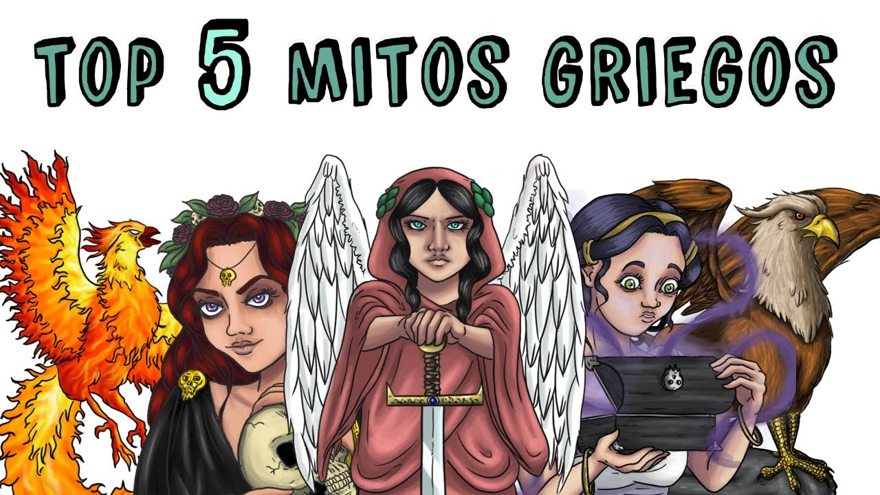Top 5 Mitos Griegos Perséfone Grifo Caja De Pandora Ave Fénix Némesis Draw My Life Youtube
