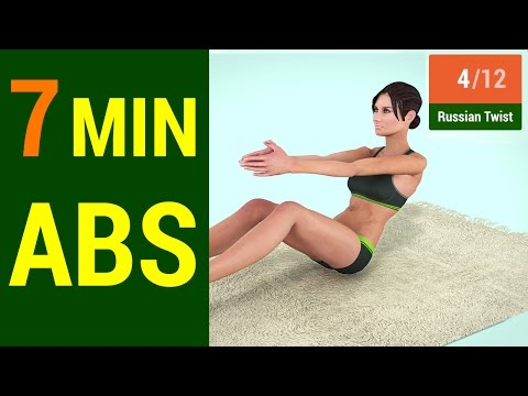 7 Min Abs Workout 2016 – How to get a Six Pack at home
