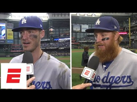 Cody Bellinger and Justin Turner talk about the Dodgers' Game 2 win | MLB Interviews