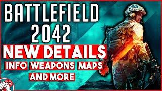 Battlefield 2042  - NEW DETAILS!!! MAPS! CLASSES! LEVOLUTION! RELEASE DATE!!