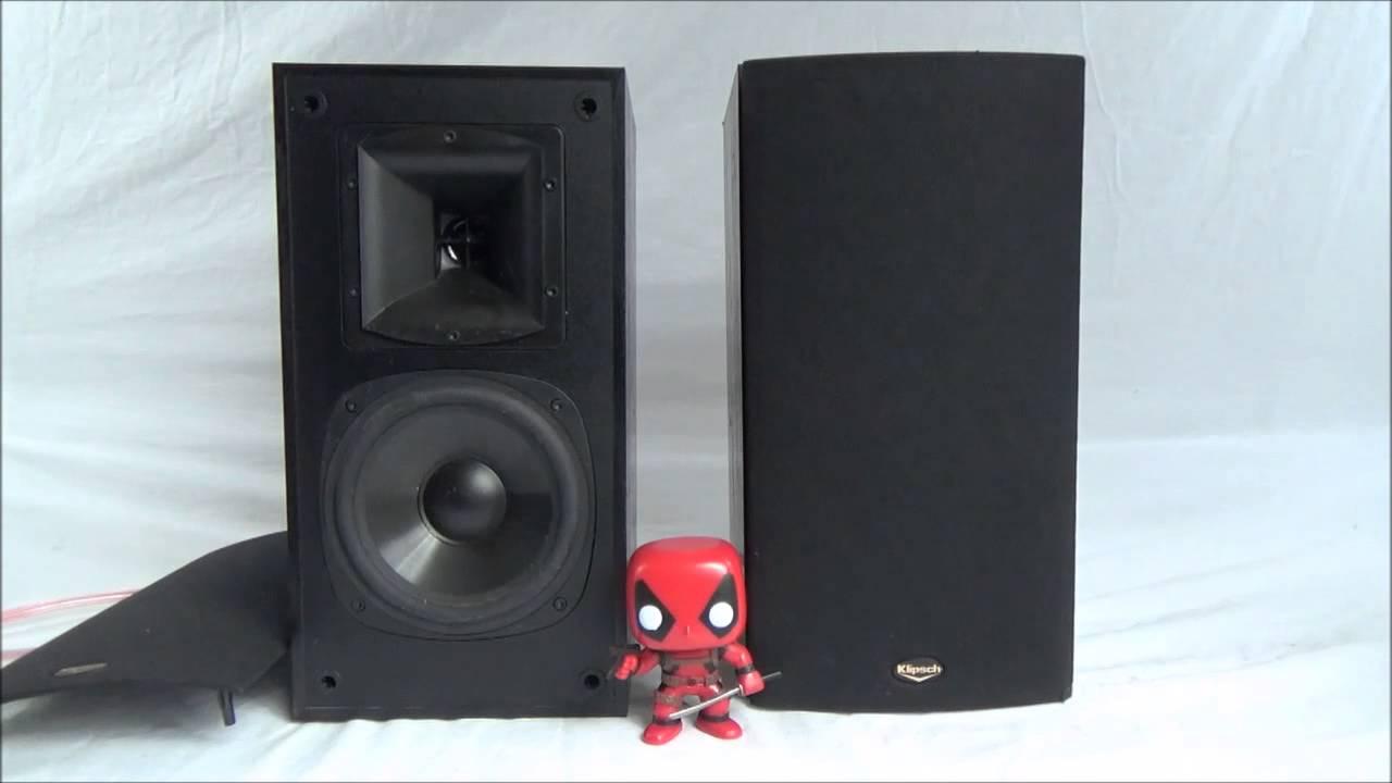 Klipsch SB 1 Bookshelf Stereo Speakers Monitors Pair 2 Way 75W