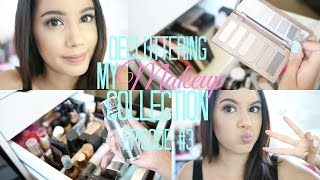 DECLUTTERING MY MAKEUP COLLECTION  | PART 3| FOUNDATION & EYESHADOW PALETTE | 2016