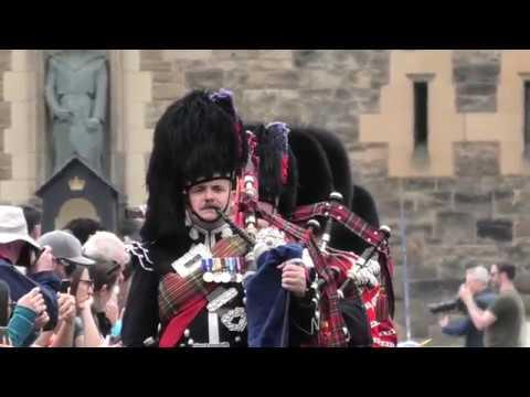 Scots Guards Parade Edinburgh's Royal Mile With Scottish Crown 1 Of 4 [4K/UHD]