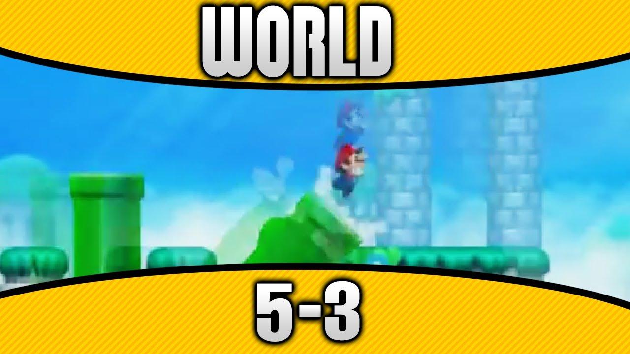 New Super Mario Bros  2 - World 5-3 100% All Star Coins