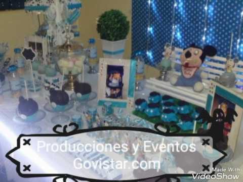 Decoracion mickey bebe youtube for Decoracion bebe