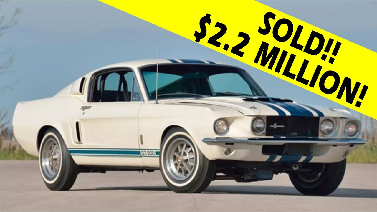 1967 ford mustang shelby gt500 sells for 2 2 million dollars