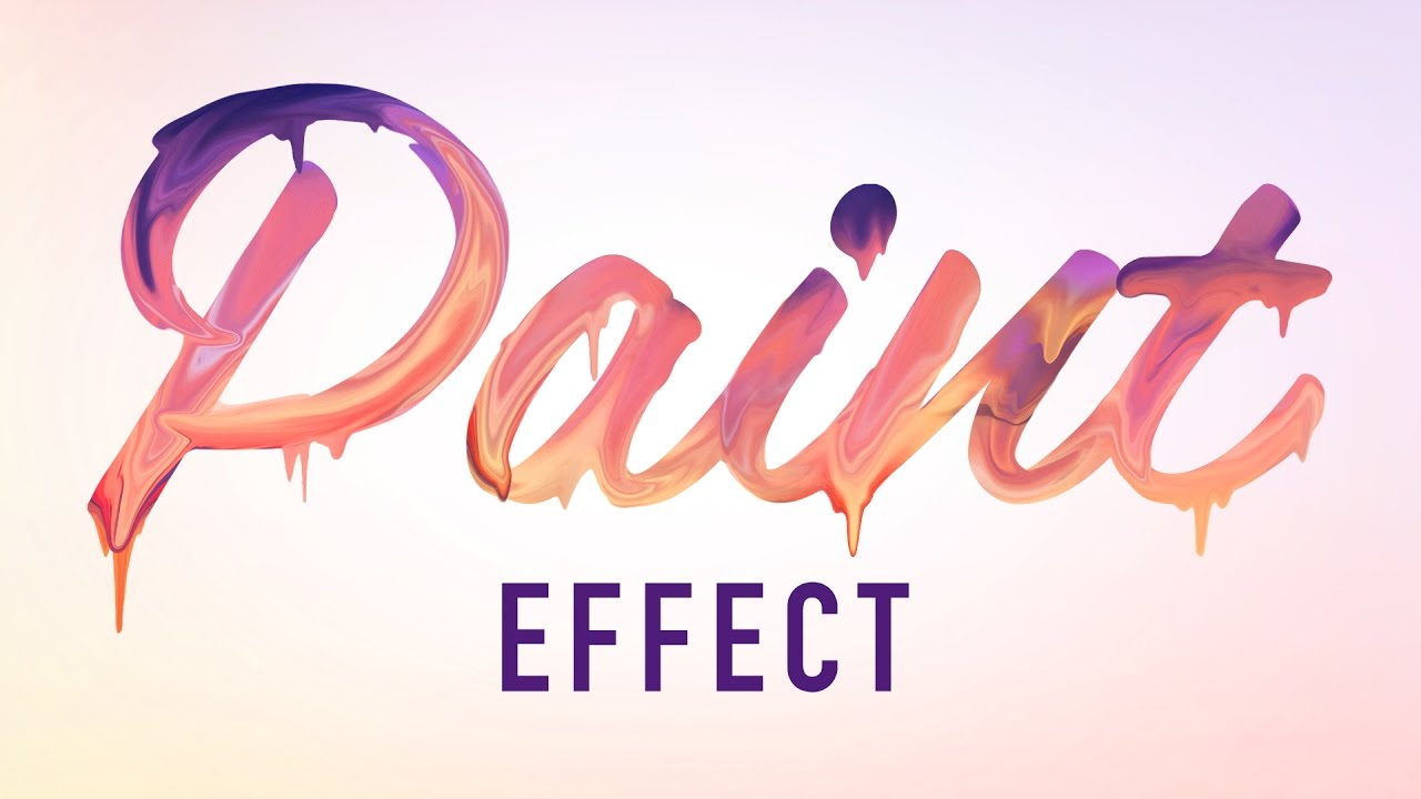 Photoshop Tutorials - Paint Text Effect