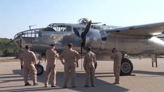 B-25J aircraft on display at Ford Airport Day