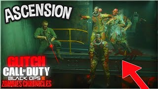BEST ASCENSION GODMODE GLITCH | BLACK OPS 3 ZOMBIES CHRONICLES GLITCHES!