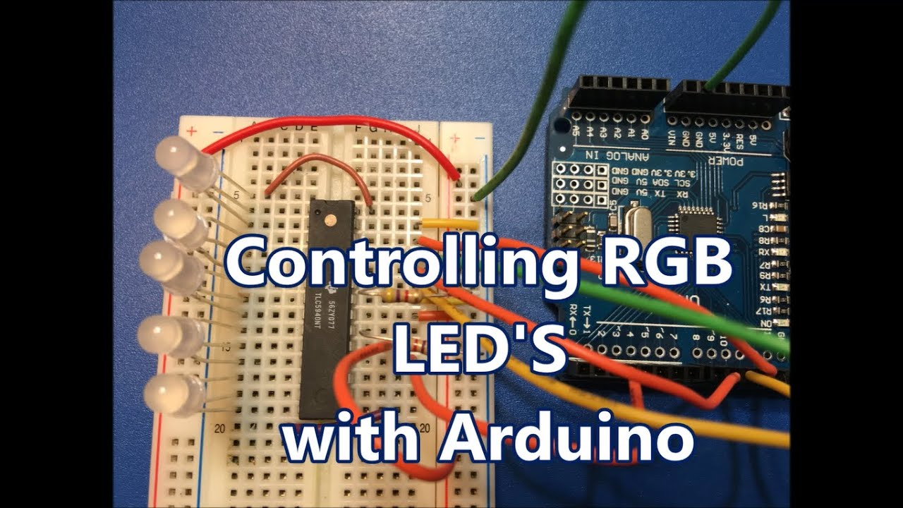 Controlling Rgb Leds With Arduino And Tlc5940 Youtube Pdf Led Matrix Cube Controller 5x5x5