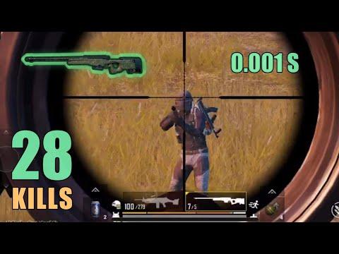 BEST AWM FLICK SHOT EVER!!! | 28 KILLS | SOLO SQUAD | PUBG MOBILE