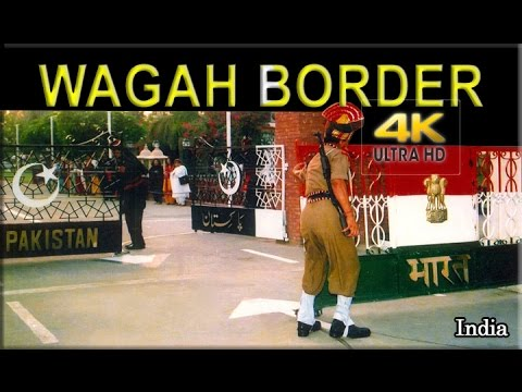 WAGAH BORDER: Pakistan-India Border Raising of Flag Ceremony - 4K