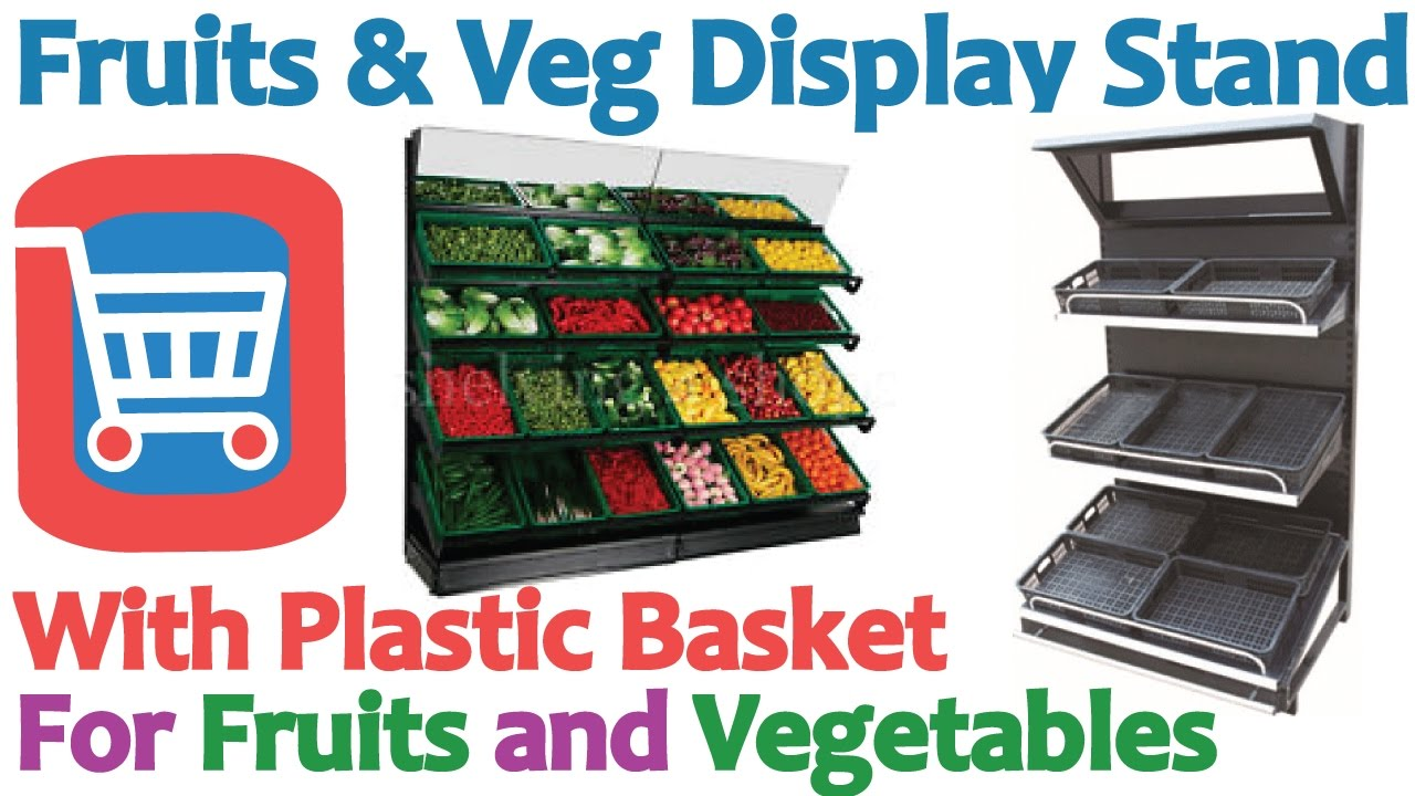Supermarket fruits and vegetables display stand in for Super table ld 99