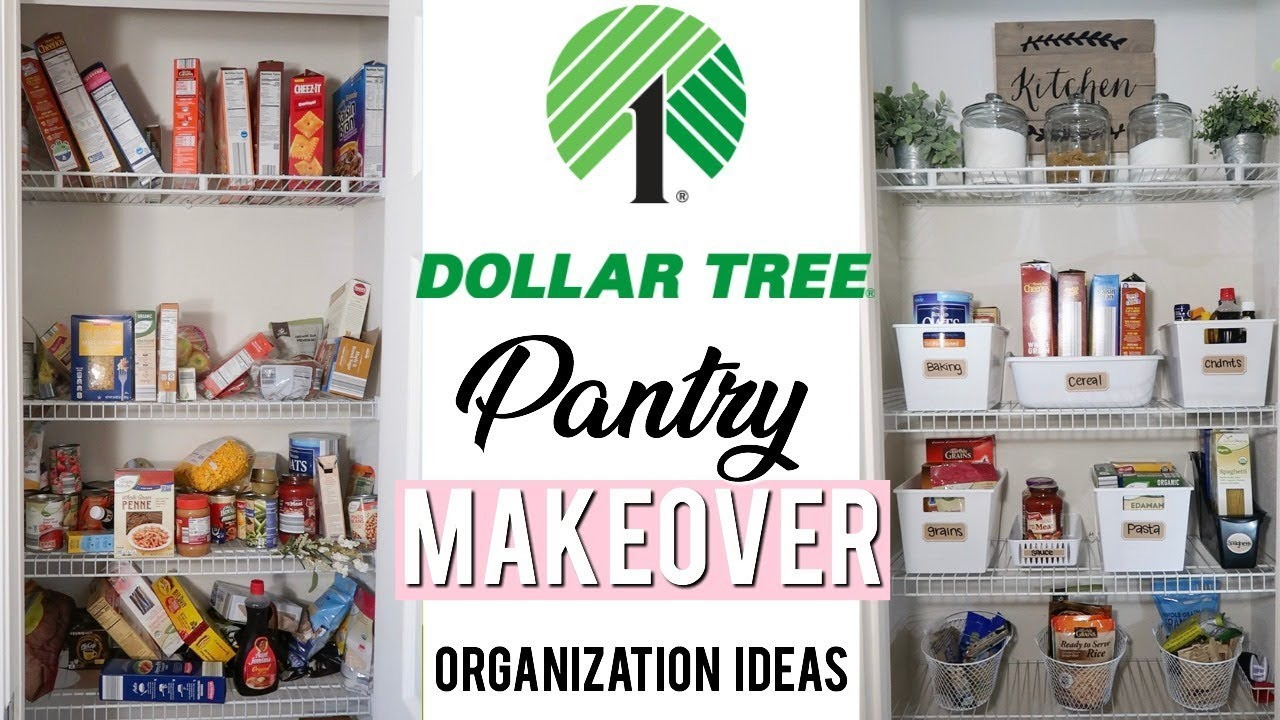 DOLLAR TREE PANTRY ORGANIZATION IDEAS - SMALL PANTRY ORGANIZING! | Clean  with me 2019
