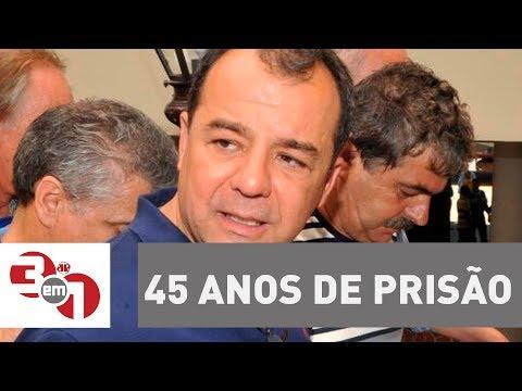 Ex-governador Do RJ Sérgio Cabral é Condenado A 45 Anos De Prisão