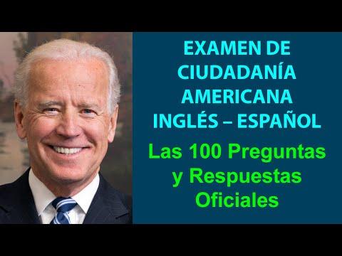 EXAMEN DE CIUDADANÍA AMERICANA 2020 – LAS 100 PREGUNTAS Y RESPUESTAS OFICIALES (INGLÉS – ESPAÑOL)