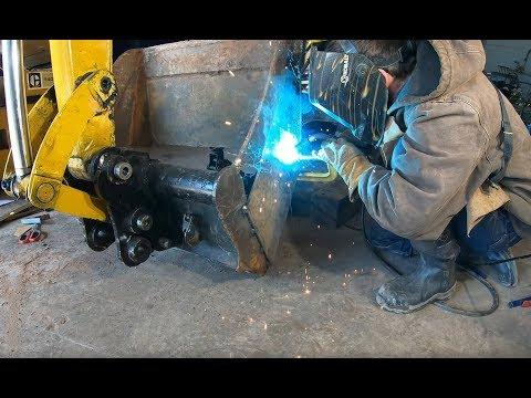 Modifying an excavator bucket