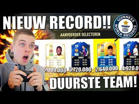 NIEUW RECORD! DUURSTE TEAM OOIT!! FIFA 17 NEDERLANDS