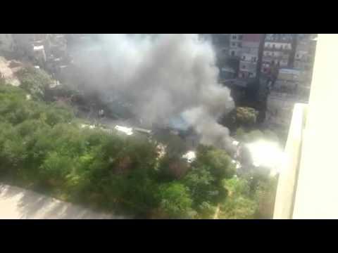 Burning Garbage in Fanar - Lebanon.