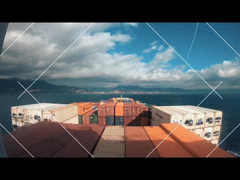 Port of Genoa from Sea