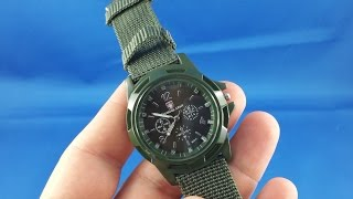 ✅ 2$ Military ARMY solder watch from AliExpress.com Unboxing haul euro app