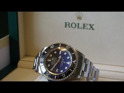 4K Review: Rolex Deepsea DBlue James Cameron 116660 Unboxing