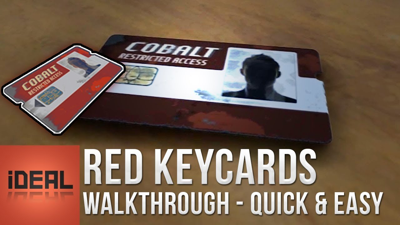 Rust • How to get Red Keycards - All Locations • Blue Puzzle Solutions