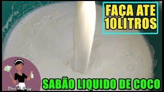 SABÃO LIQUIDO DE COCO- O MAIS FÁCIL SEM TALHAR – ATE 10LITROS