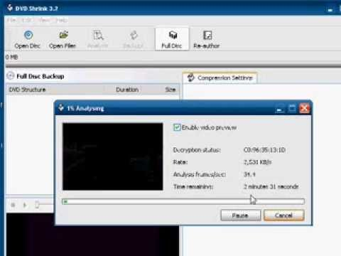 Backup DVD to MPEG Using DVD Shrink