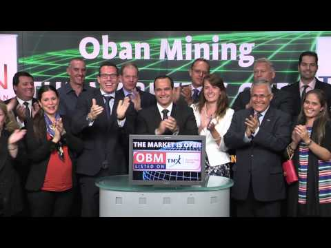 Oban Mining Corporation (OBM:TSX) opens Toronto Stock Exchange, August, 6, 2014