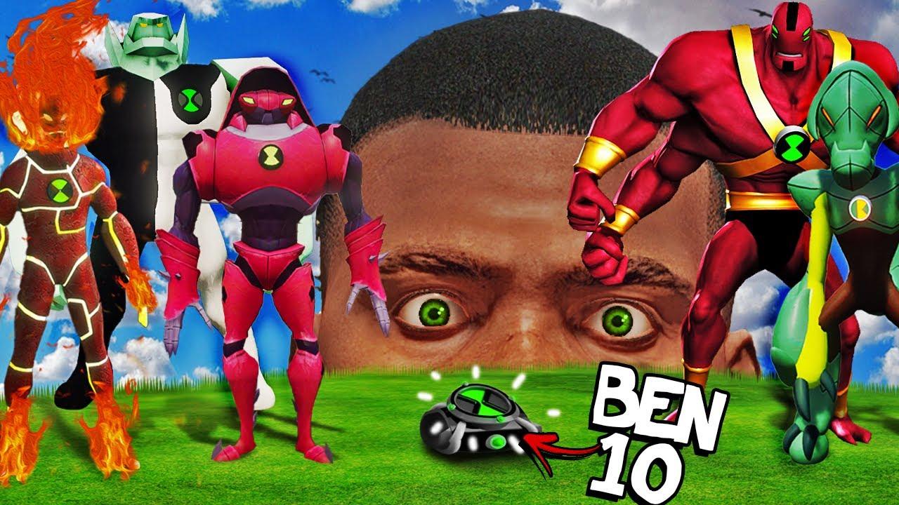 Finding BEN 10 ALIENS In GTA 5 (Secret)