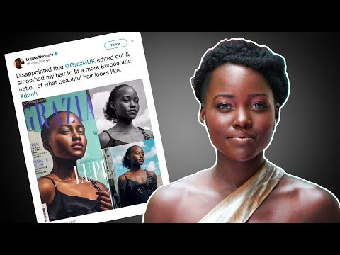 Lupita Nyong'o DESTROYS Grazia UK After Photoshop Fail