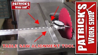 How To Make  A Table Saw Alignment Tool