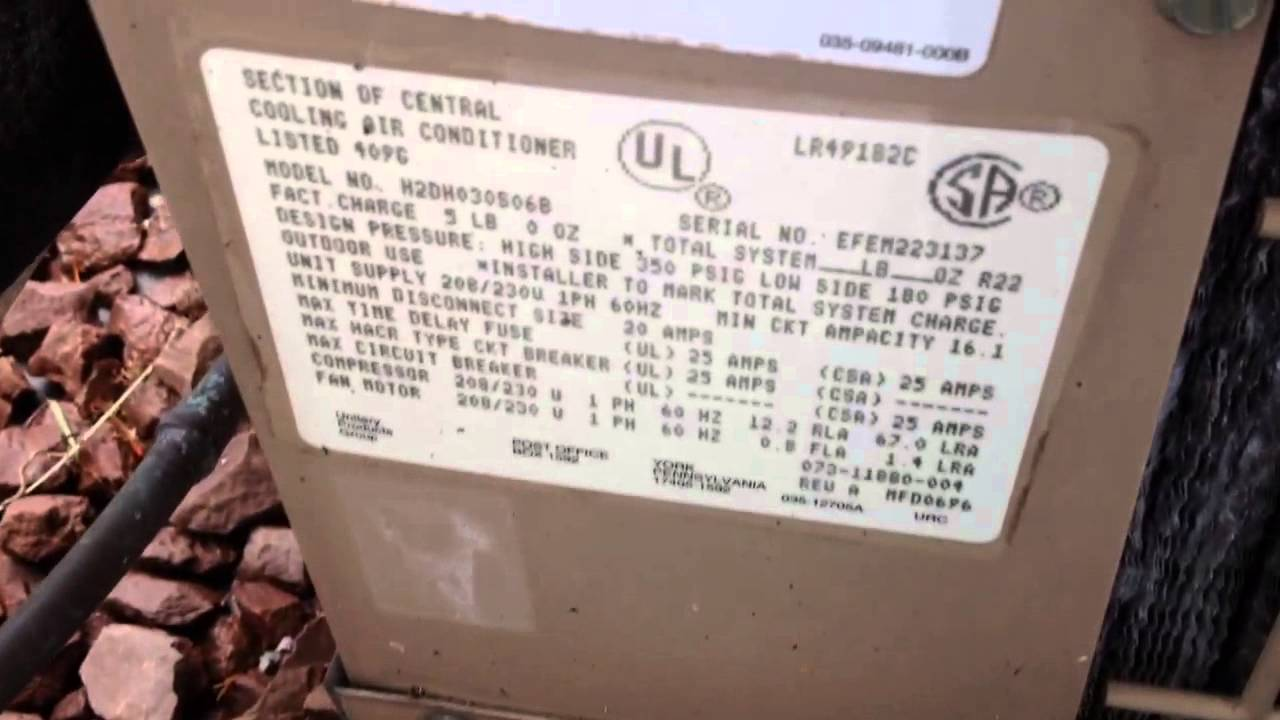 maxresdefault 1996 york stellar plus air conditioner 6 19 14 youtube york stellar plus wiring diagram at mifinder.co
