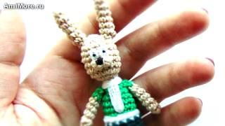 Амигуруми: схема Зайца Стиляги. Игрушки вязанные крючком.