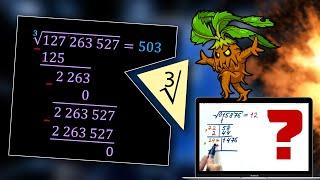 #196. Как извлекать кубические корни в столбик?