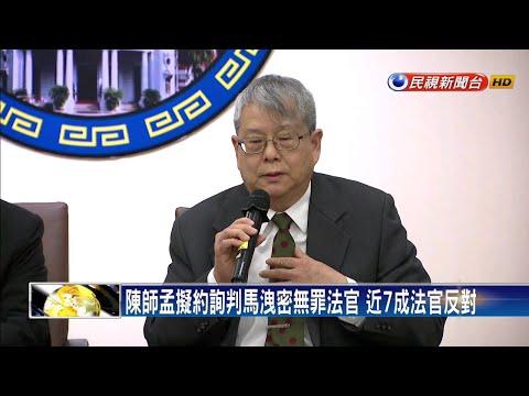 近7成法官反對約詢  陳師孟:監察權制衡司法-民視新聞