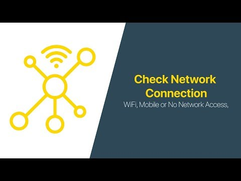 How To Check If Device Connected To WiFi/Mobile Network Or Offline | Android Studio