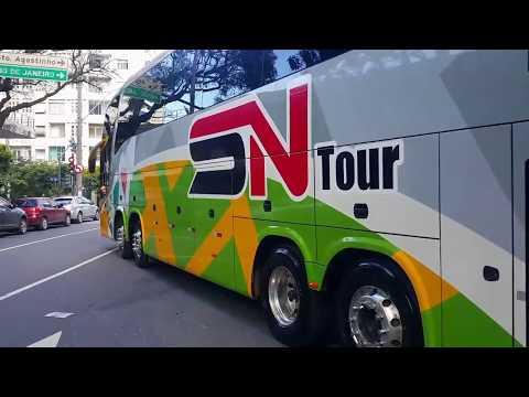 Manobrando os ônibus de turismo
