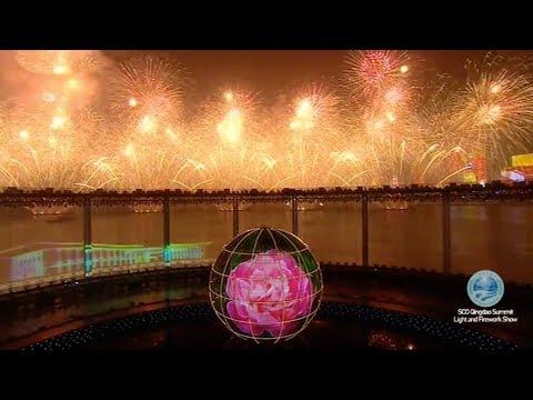 Light, fireworks illuminate celebration for Qingdao SCO Summit