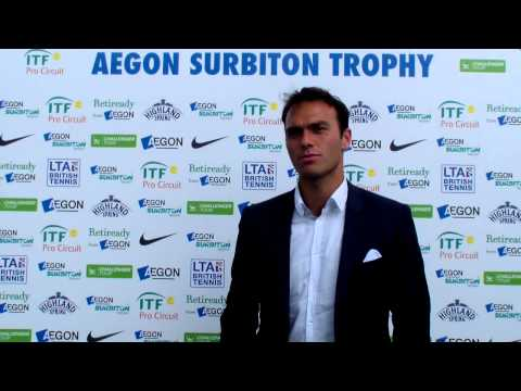 Ross Hutchins Interview at The Surbiton Trophy