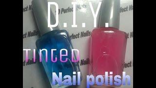 DIY! How To: Make Your Own Tinted Nail Polish