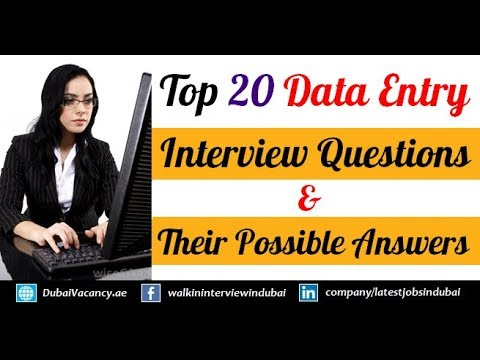 Top 20 Data Entry Interview Questions & Their Best Possible Answers