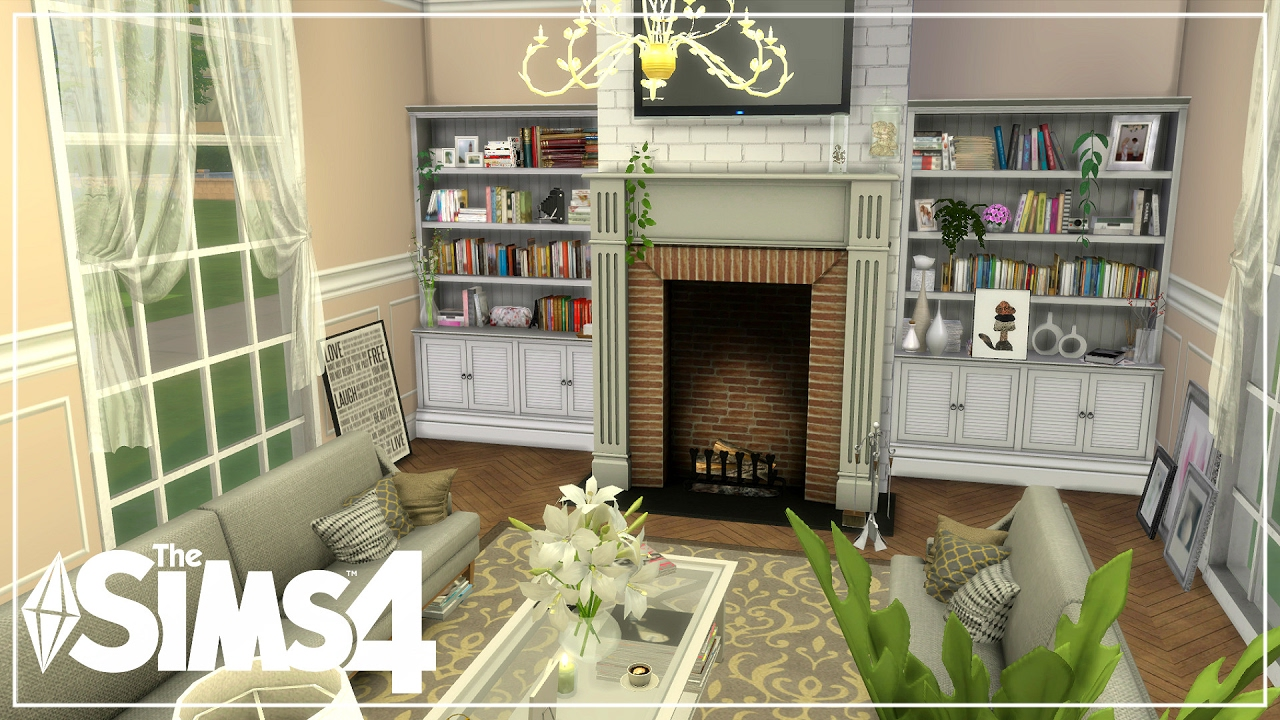 The Sims 4| Room Build| Royal living room (Speed Build) - YouTube