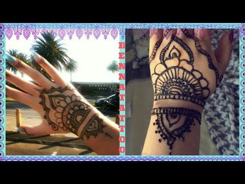 how to do a Henna Tattoo : Tumblr Hand Design