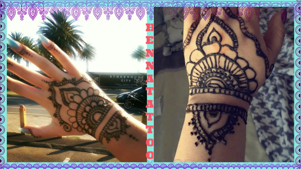 Cute Henna Hand Tattoos
