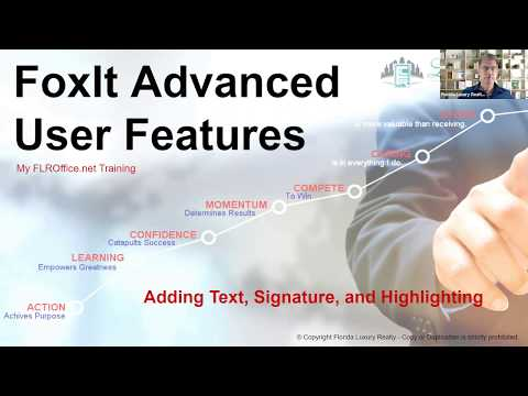 FoxIt PDF Reader Advanced Features