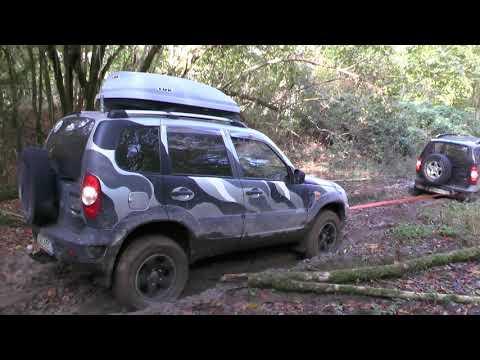 Tест-драйв грязевой резины BF Goodrich  и Hankook Dynapro в колее на авто Шевроле Нива
