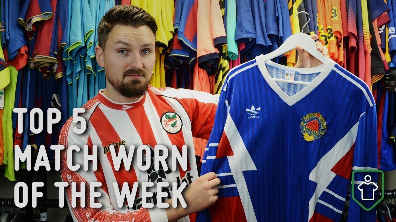 a77b0c9b50f Classic Football Shirts  This Week s Top 5 Match Worn Feat. Yugoslavia 1990