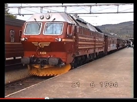 1994 - 5000km by Train through Scandinavia in 4 days